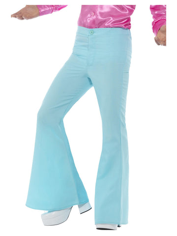 Blue 1960s Flared Trousers, Mens