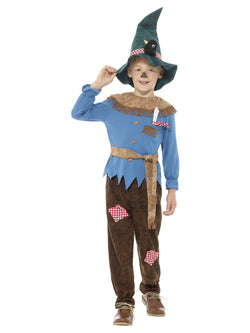 Boy's Patchwork Scarecrow Costume - The Halloween Spot