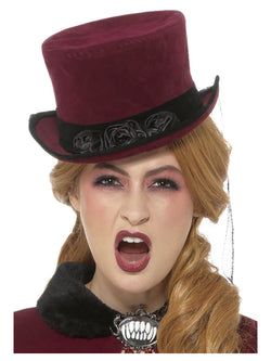 Deluxe Victorian Vampiress Hat - The Halloween Spot