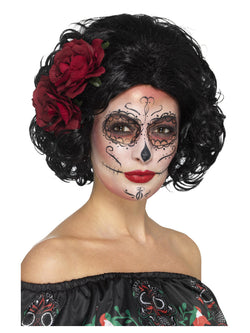 Deluxe Day of the Dead Doll Wig