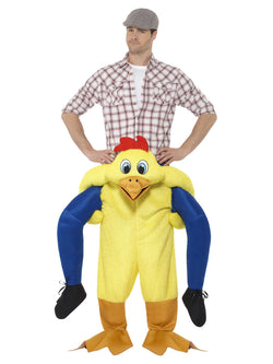 Men's Piggyback Chicken Costume - The Halloween Spot