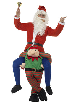 Men's Piggyback Elf Costume - The Halloween Spot