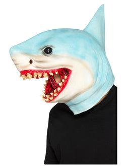 Shark Overhead Mask, Blue, Latex