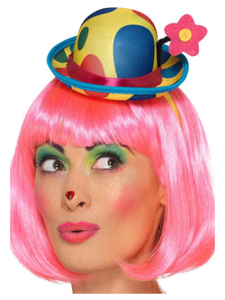 Clown Mini Hat Headband, Multi-Coloured, Adult