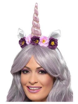 Unicorn Headband, Multi-Coloured, Adult