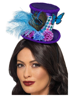 Mad Hatter Mini Feather Hat - The Halloween Spot
