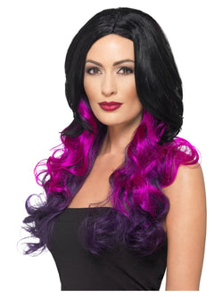 Deluxe Ombre Wig, Purple, Heat Resistant/ Styleable