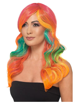 Fashion Rainbow Wig, Wavy, Long, Multi-Coloured, Heat Resistant/ Styleable