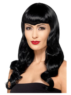 Women's  Deluxe Wavy Wig, With Shaped Fringe - The Halloween Spot