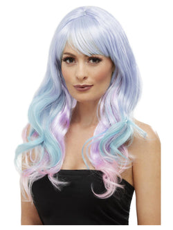 Fashion Unicorn Pastel Wig, Wavy, Long, Multi-Coloured, Heat Resistant/ Styleable