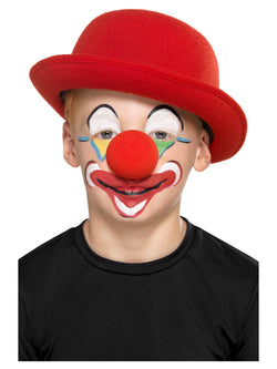 Smiffys Make-Up FX, Family Clown Kit, Aqua, with Facepaints, Crayons, Nose & Applicators