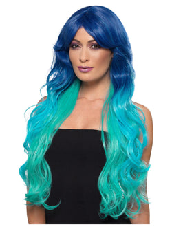 Fashion Mermaid Wig, Wavy, Extra Long, Multi-Coloured, Heat Resistant/ Styleable
