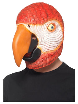 Parrot Latex Mask, Red, Overhead