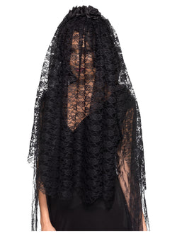 Women's  Black Widow Veil - The Halloween Spot