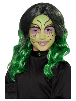 Kids Witch Wig, Black & Green