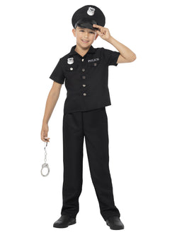 Black coloured Boy's New York Cop Costume