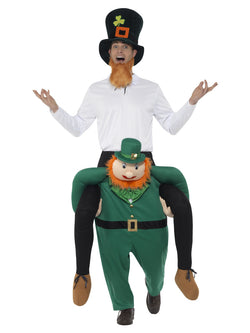 Piggyback Paddy's Leprechaun Costume, Green, One Piece Suit with Mock Legs