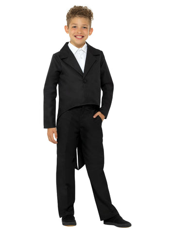 Kids Black Tailcoat