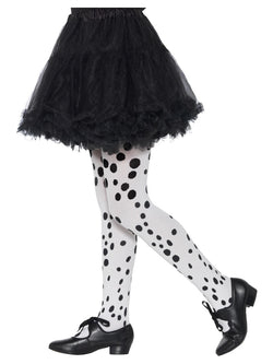 Dalmatian Tights, Childs, Black & White, Age 6-12