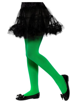Opaque Tights, Green, Age 6-12