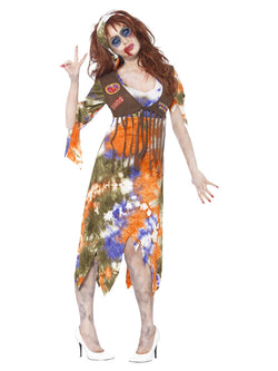 Women's Zombie 60s Hippie Lady Costume