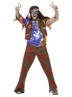 Men's Zombie 60's Hippie Costume