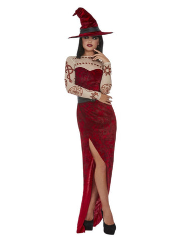 Satanic Witch Costume, Red