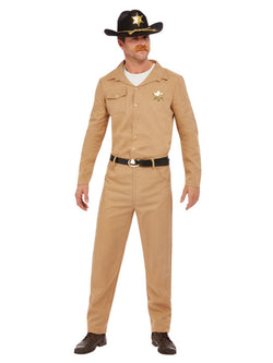 80s Sheriff Costume, Beige - The Halloween Spot