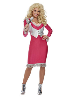 Country Icon Dolly Costume, Pink - The Halloween Spot