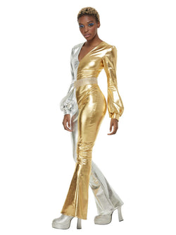 70s Super Chic Costume, Gold & Silver - The Halloween Spot
