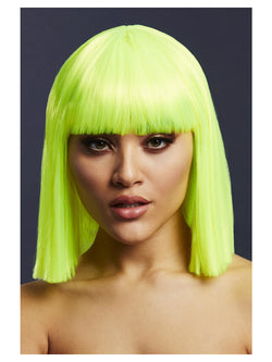Fever Lola Wig, Neon Lime - The Halloween Spot