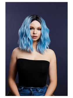 Fever Cara Wig, Two Toned Blend, Baby Blue - The Halloween Spot