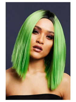 Fever Kylie Wig, Two Toned Blend, Lime Green - The Halloween Spot