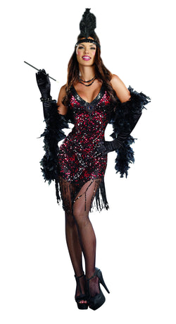"Women's Flapper Costume ""Dames Like Us"", 2-Piece Flapper Set - The Halloween Spot"
