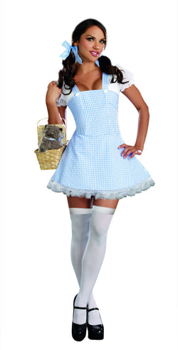 Women's Oriental Costume Blue Gingham Dress