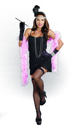 Women's Black Flapper Starter Dress