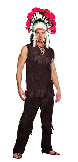 "Indian style Costume ""Chief Long Arrow"", 3-Piece Indian Set - The Halloween Spot"