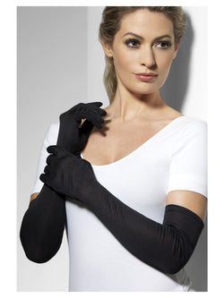 Gloves, Black, Long