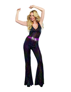 Women's Disco Girl Costume Disco Doll, 2-Piece Disco Set - The Halloween Spot