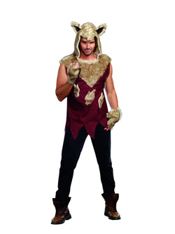 Men's Big Bad Wolf, 2-Piece Wolf Costume Set - The Halloween Spot