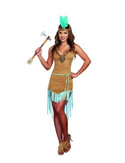 Women's Native Princess - 3 Piece Native American Costume Set