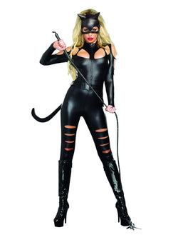 Women's Cat Fight - 3 Piece Costume Set
