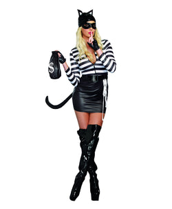 Women's Cat Burglar- 7 Piece Costume Set - The Halloween Spot