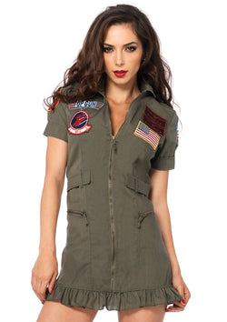Women's Top Gun Flight Dress Costume - The Halloween Spot