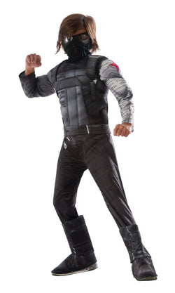 Deluxe Muscle Chest Kids Winter Soldier Costume - The Halloween Spot