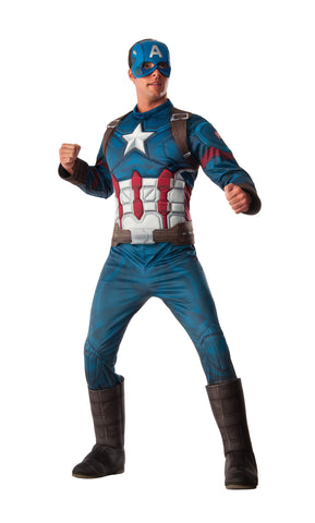 Deluxe Muscle Chest Adult Captain America Costume