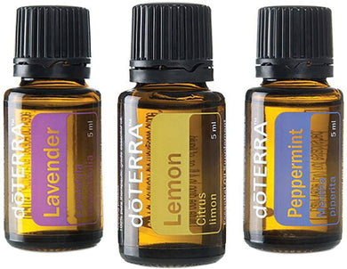 doTERRA - Beginner's Trio Essential Oils - Lavender, Lemon, and Peppermint