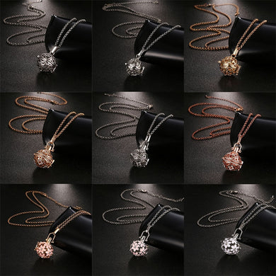 New Mexico Chime Hollow Zircon Vintage Necklace Jewelry Music Ball Essential Oil Pregnancy Necklace Summer Romantic Accessories