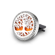 New Car Perfume Diffuser Clip Locket Starfish Tree of Life Stainless Steel Vent Freshener Essential Oil Diffuser Car Accessories