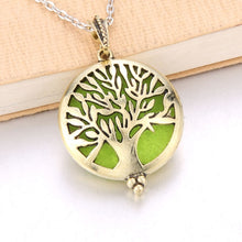 Tree Of Life Bronze Aroma Box Diffuser Necklace Magnetic Aromatherapy Essential Oil Diffuser Perfume Box Locket Pendant Jewelry